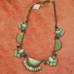 Lia Sophia green statement necklace